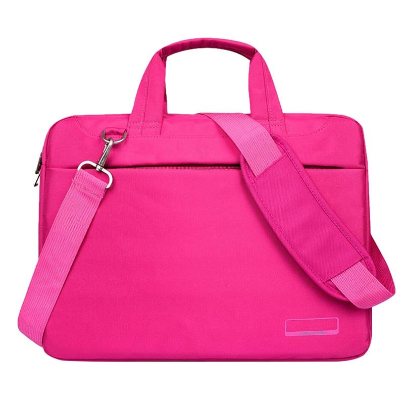 Laptop bag case Nylon airbag shoulder handbag computer bags Waterproof Messenger Women men Notebook bag Rose Red with Airbag