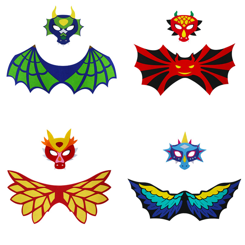 2-5 Y.O Safe Lightweight Dragon Costume Wings Mask Boys Kids Role Playing Gifts Birthday Cosplay Fancy Dress Animal Costumes