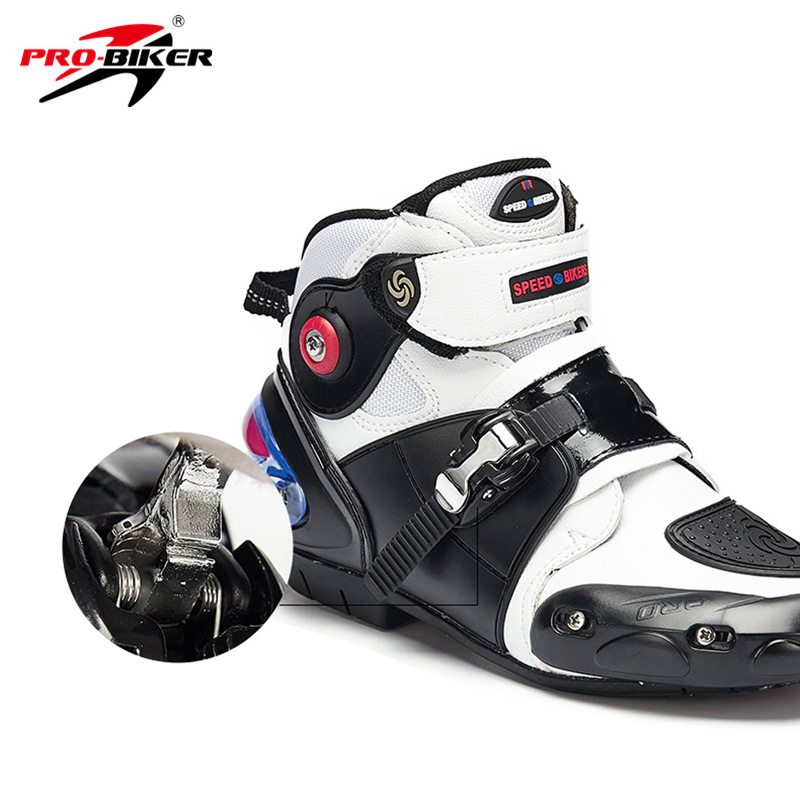 b35d7ae474b07b Detail Feedback Questions about Pro Motorcycle Boots Motorbike Sport Short  Microfiber Leather Probiker Racing Ankle Riding Shoes Motocross Moto Non  Slip ...
