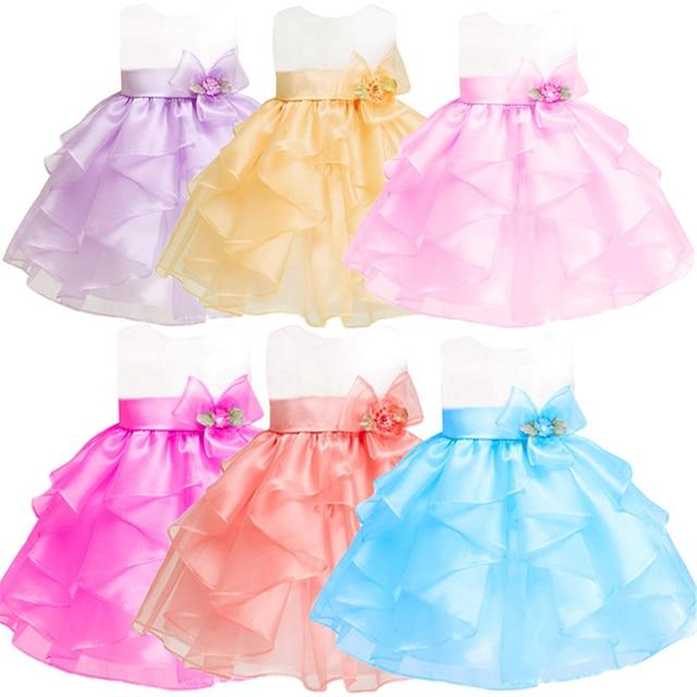 Newborn Baby Sleeveless Princess Dresses for Girls Elegant Festive Tutu Dress with Ballet Gauze Flowers Toddler Party Costumes