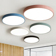 Nordic Style LED Ceiling Light Modern Panel Lamp Remote Control Indoor Lighting Fixture Surface Mounted Warm White  Multi-color