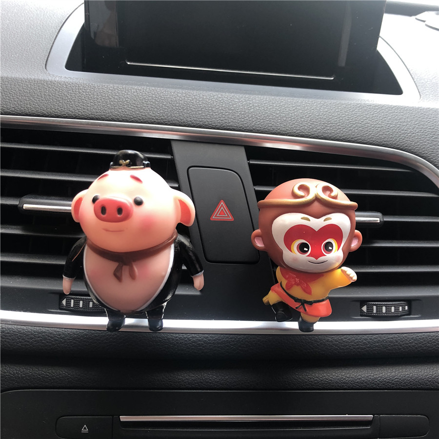 Cute Cartoon Little Boy Car Decorative Perfume Clip Sun Wukong And Pig Modeling Car Perfume Little Monkey Air Freshener An Enriches And Nutrient For The Liver And Kidney Air Freshener Automobiles & Motorcycles