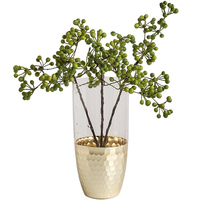 Modern Glass Vase Creativity Electroplate Home Decor Tabletop Inserted Floral Gold Vase Culture Plant Vase Wedding Decor QAB032
