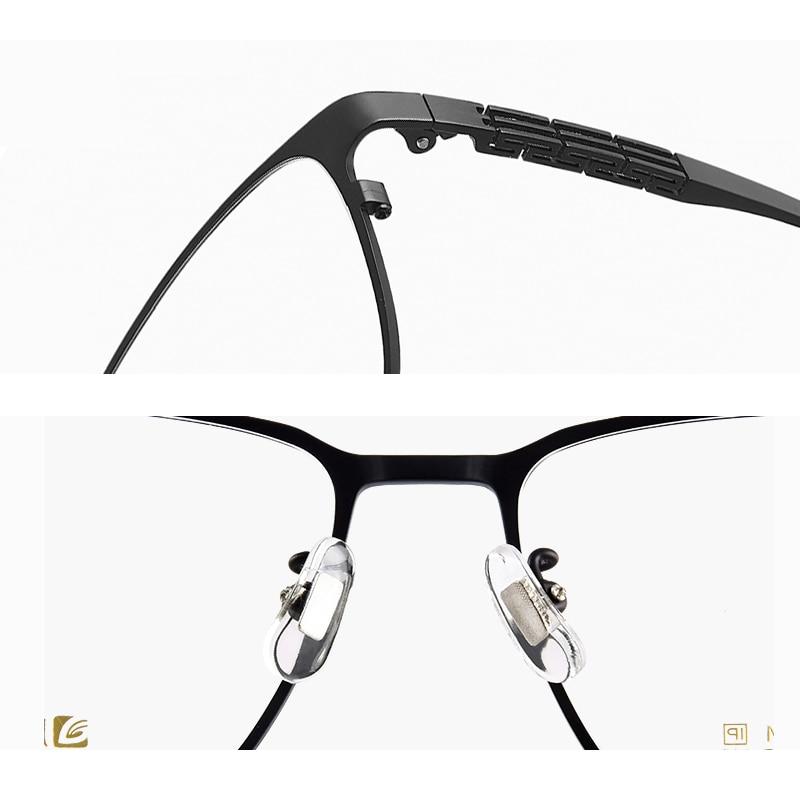 Hommes lunettes de Prescription correcteurs lunettes dioptriques titane optique monture des yeux lunettes multifocales progressives HT0072 - 4