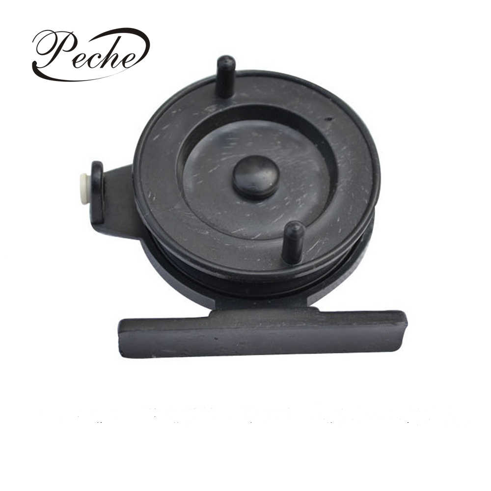 Peche Plastic Ice Winter Fishing Reels For Fly Fishing Spinning Reverse Braking Gram Wheel Fishing Tackle Tools Spinning Reels