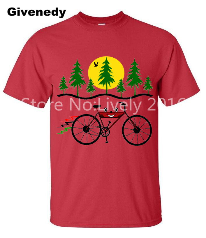 Cycle is Fun 100 Cotton Short Sleeve Leisure Men s Clothing Bicycle T Shirt Tops Tees