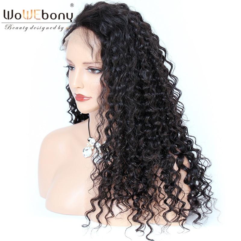 WoWEbony 150% Density 360 Lace Wigs Brazilian Virgin Hair Loose Curly Pre-plucked Hairline [360LC05]