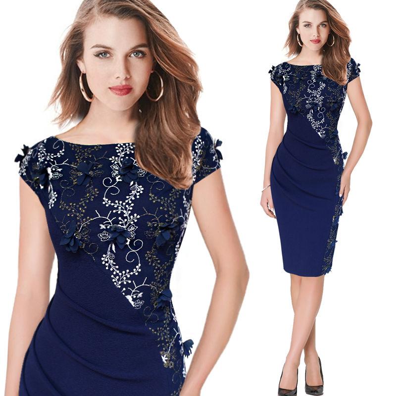 5973f685bc Vestido de mujer elegante bordado moda Casual fiesta noche ocasión especial  vestido ceñido al cuerpo 391-in Vestidos from Ropa de mujer on  Aliexpress.com ...
