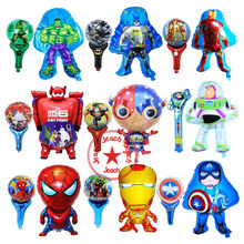 Batman spiderman บอลลูน avengers party supplies super hero ลูกโป่ง superman super big hero วันเกิด avengers บอลลูน(China)