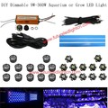 1 lot dimmable DIY Aquarium led light 24w 10000k-15000k 440nm-460nm for tank reef