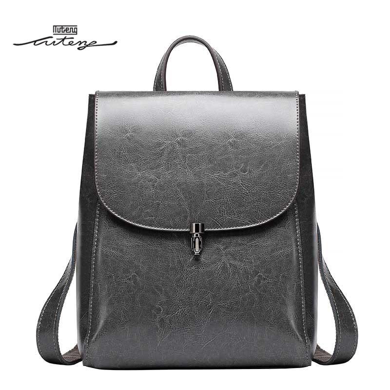 TU-TENG Female Backpack Bag Designer Brand Luxury Women Genuine Leather Backpacks School Bags For Teenage Girls Backpack G86870 designer bags famous brand women bags 2016 small rivets backpack tide female school bags for teenage girls mini backpack