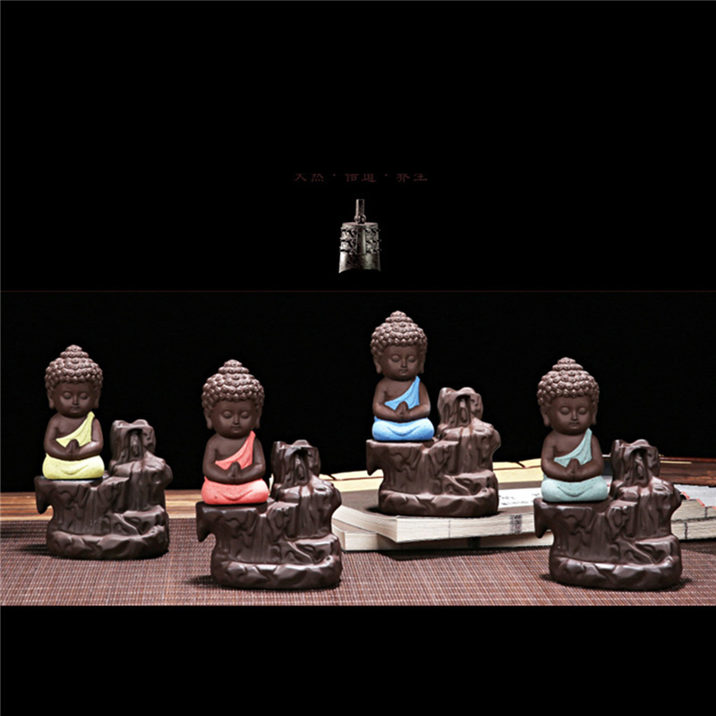 Китайский стиль Будда керамическая Курильница держатель набор с joss палочки домашний Декор Гостиная Спальня украшение офиса