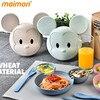 1 Set Cute Cartoon Monkey Children Dinner Ware Wheat Straw Fiber PP Dinner Plates Set Food