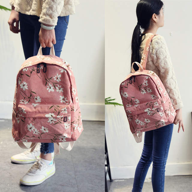 7ca2670404 placeholder Preppy Style Flowers Printing Backpack Women Corduroy Backpack  School Bags For Teenager Girls Students Travel Bag