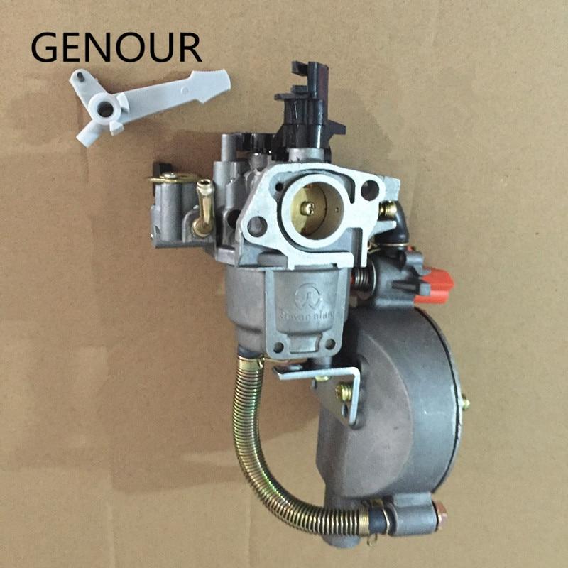 gx200 motor gasolina & liquefeld, carburador combustível duplo