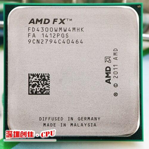 Бесплатная доставка AMD FX 4300 AM3 + 3.8 ГГц 8 МБ Процессор процессор FX последовательный Бесплатная доставка scrattered штук FX-4300 fx4300