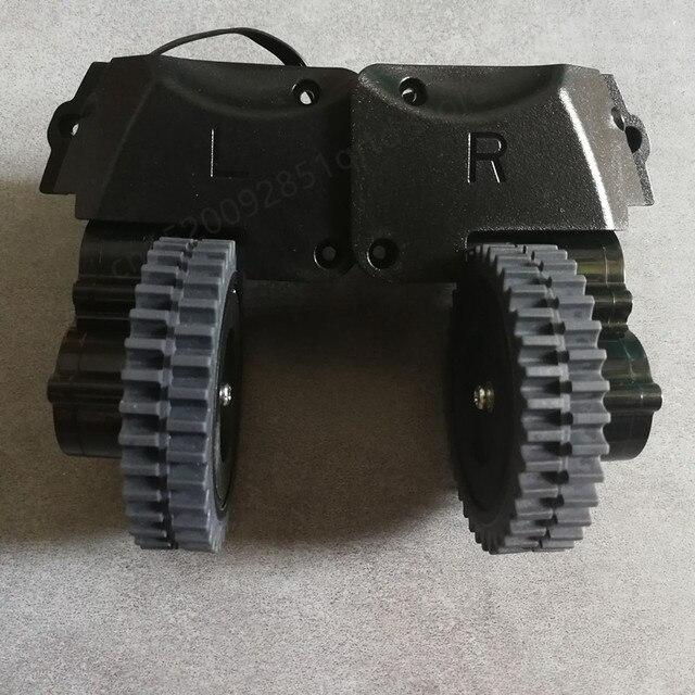 Po lewej stronie prawe koło dla odkurzacz robot ilife a4 a4s a40 X451 części do robota odkurzającego ilife a4 a4s koła obejmują koła silnik