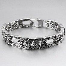 316L нержавеющая сталь 13 длина прохладный мужской браслет цепь 5A021(длина 8,7 дюйма