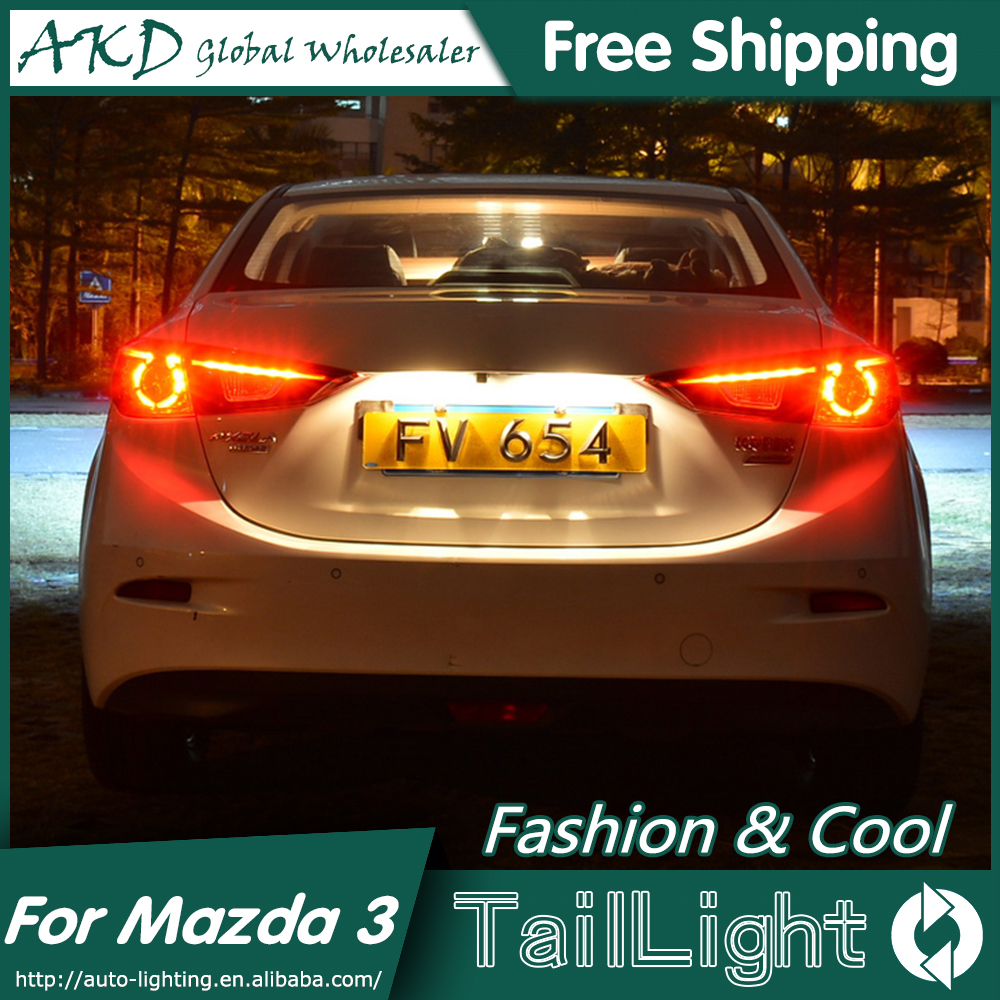 AKD Car Styling for Mazda 3 Tail Lights 2015 New Mazda3 Axela LED Tail Light Orignal Design LED Rear Lamp DRL+Brake+Park+Signal jgd brand new styling for mitsubishi pajero sport tail lights 2009 2015 led tail light rear lamp led drl singal car lights