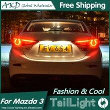 AKD Styling De Voiture pour Mazda 3 Feux Arrière 2015 Nouveau Mazda3 Axela LED Feu arrière Orignal Conception LED Arrière Lampe DRL + Frein + Parc + Signal