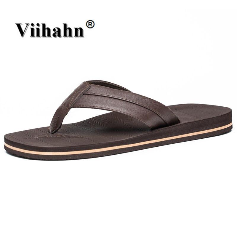 Viihahn נעלי בית גברים נעלי קיץ כפכפים נעלי חוף סנדלים קל משקל Sandalias Zapatos Hombre Hombre בתוספת גודל 41-48