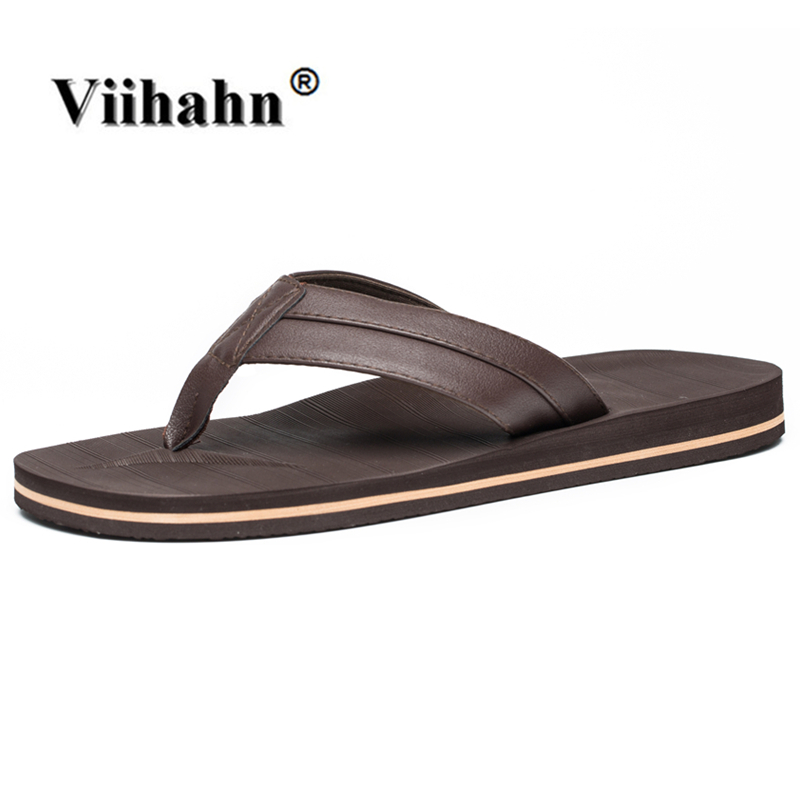 Viihahn Summer Shoes Men Slippers Flip Flops Sandals Lightweight Beach Slippers Zapatos Hombre Sandalias Hombre Plus size 41-48 6 colors flip flops men sandals summer shoes men slippers beach sandals men flip flops sandalias hombre slides size 39 45 page 1