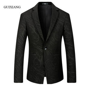 Coat Blazers Jacket Single-Button Slim Winter-Style Men's Casual Fashion New-Arrival