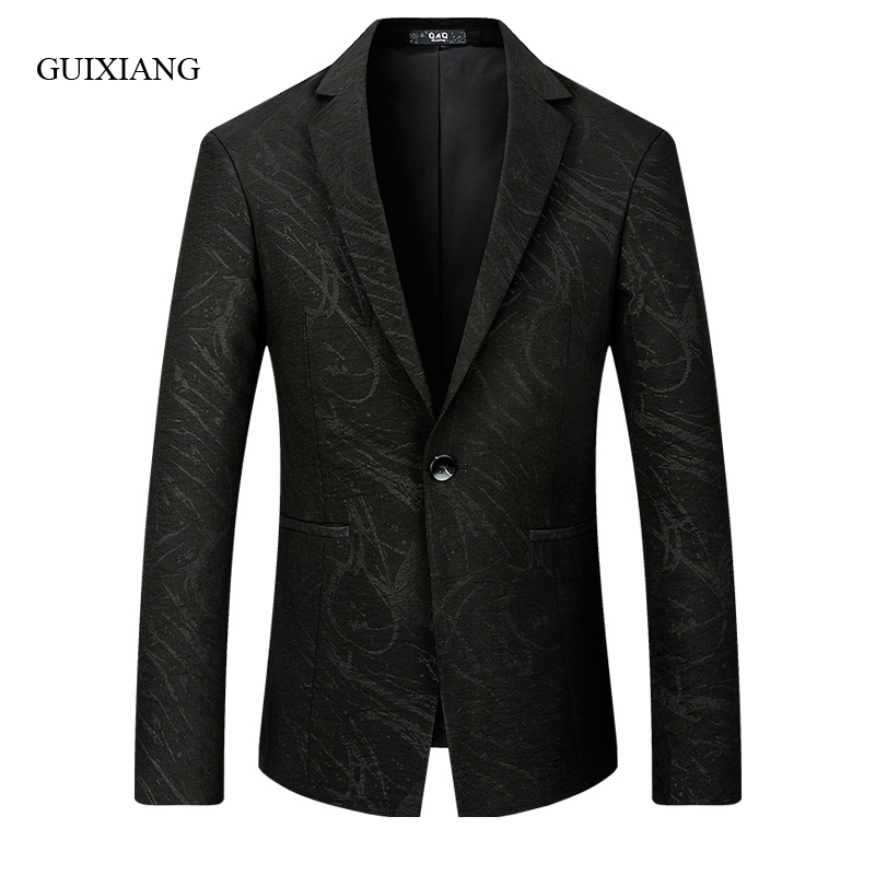 2019 new arrival autumn and winter style men boutique blazers high quality fashion casual single button