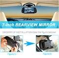 7 polegada TFT LCD Bluetooth MP5 Car espelho retrovisor Monitor de veículo Auto estacionamento Monitor retrovisor SD / Radio USB para câmera reversa