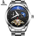 IK colouring Moon Phase Function Lxuury Watch Men 24 hours Full Steel Band Gold Skeleton Automatic Mechanical Watches relogio