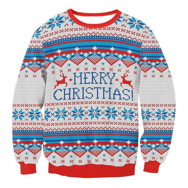 Women Men Xmas Christmas Sweater Vacation Santa Novelly Tops 2018 Unisex Girl Boy Fashion Merry Christmas