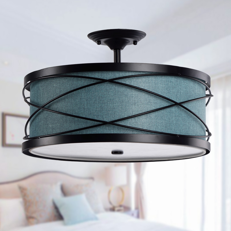 American style circle ceiling light nordic brief modern book led lighting