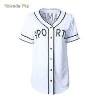 Yolanda Paz 2017 Newest Summer White Women Fashion T Shirt Letter Printed Loose Cardigan T Shirts
