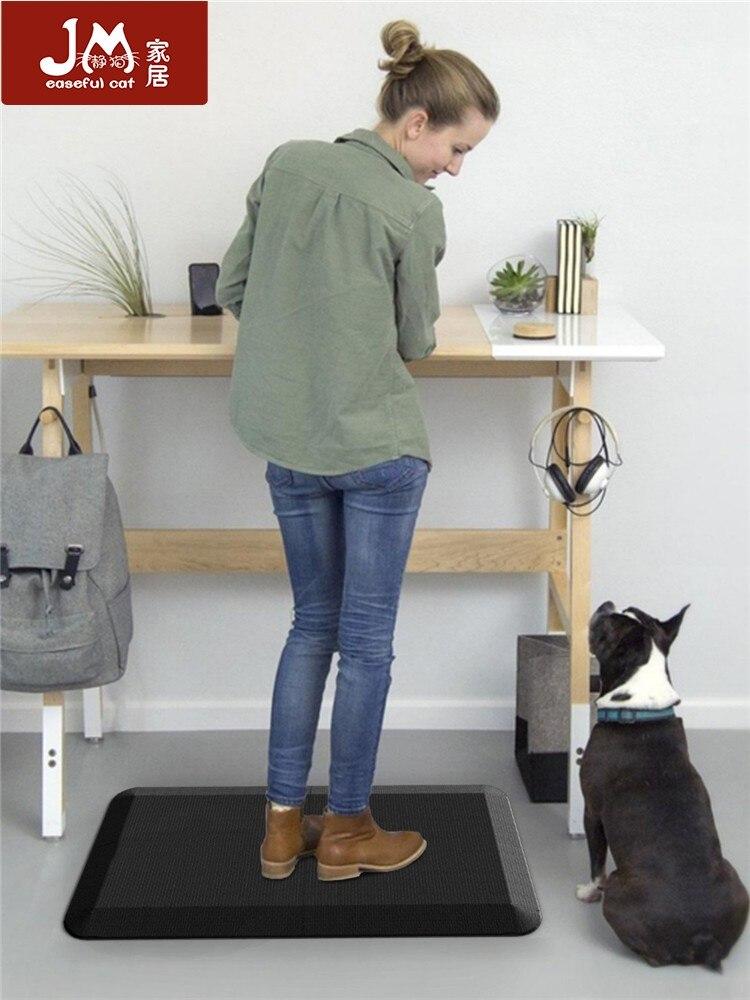 Comfortable Anti-skid Mat, Long Standing Office Anti-fatigue Elastic Foot Mat, Ergonomic Design, Kitchen Mat Waterproof 20 X 38