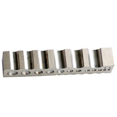 Outils à bijoux, canal en acier pour outils de fabrication de bijoux, taille: 32x32x205mm, outil et équipement d'orfèvre