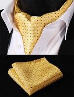 الأرجواني الأصفر rd102y البولكا نقطة المنسوجة ربطة عنق أسكوت ربطة عنق من الحرير مجموعة تناسب جيب منديل مربع