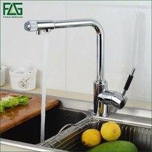Flg питьевой воды фильтр кран на бортике смеситель кран chrome на одно отверстие очиститель 3 способ воды кухонный кран смесителя 257-33c