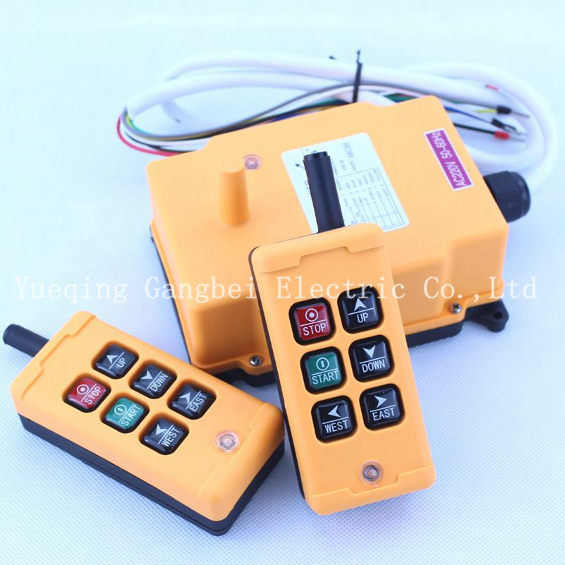 купить HS-6 (include 2 transmitter and 1 receiver) crane remote control Your order note need voltage:380VAC 220VAC 36VAC 24VDC по цене 4966.16 рублей
