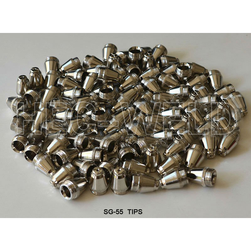 Plasma TIPs Nozzles 40-60Amp Fit SG-55 AG-60 Plasma Cutter Cutting Torch Consumables 100PK quality assurance panasonic air plasma cutting accessories reasonable price tips plasma electrodes
