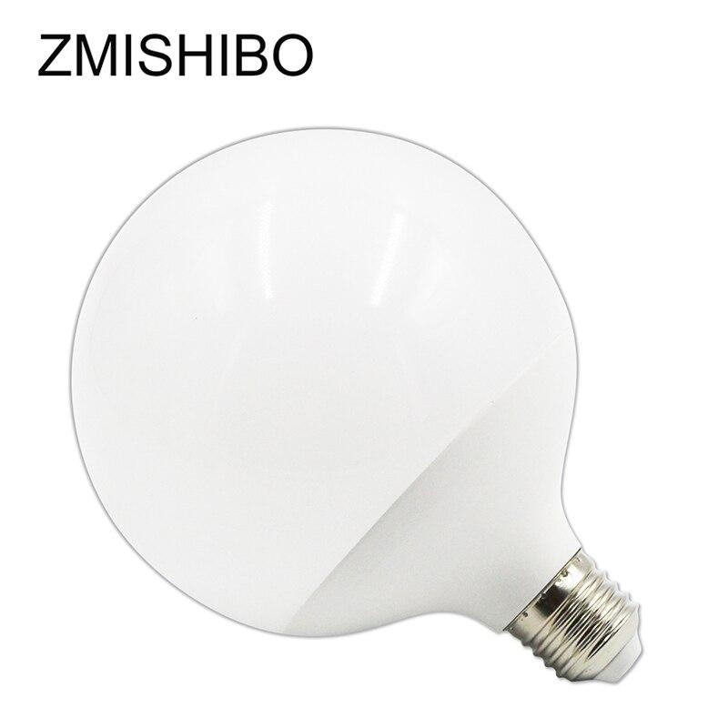 ZMISHIBO Super Bright G120 LED Global Bulb E27 220V 20W White Body Plastic Aluminium For Ceiling Lamp Pendant Lights No Flicker global нож поварской global forged 27 см
