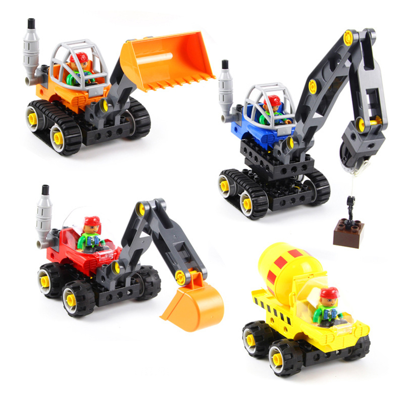 Large Construction Toys For Boys : New technical excavator duplo toys large particle building