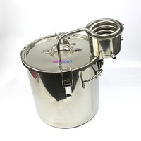 Distiller Moonshine Alcohol Brewing Kit Still Stainless Water Wine Essential Oil
