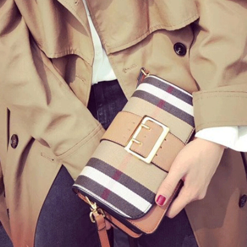 Ladies High Quality PU Leather Crossbody Fashion Bags Grid Pattern