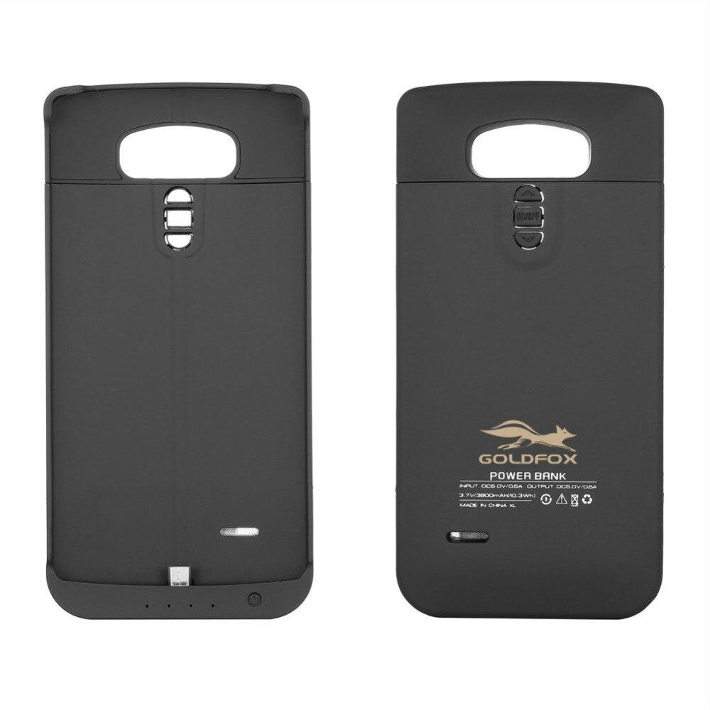 Черный ультра тонкий чехол для телефона <font><b>LG</b></font> <font><b>G4</b></font> 3800 мАч внешнего резервного Батарея Зарядное устройство крышка Запасные Аккумуляторы для телефо&#8230;