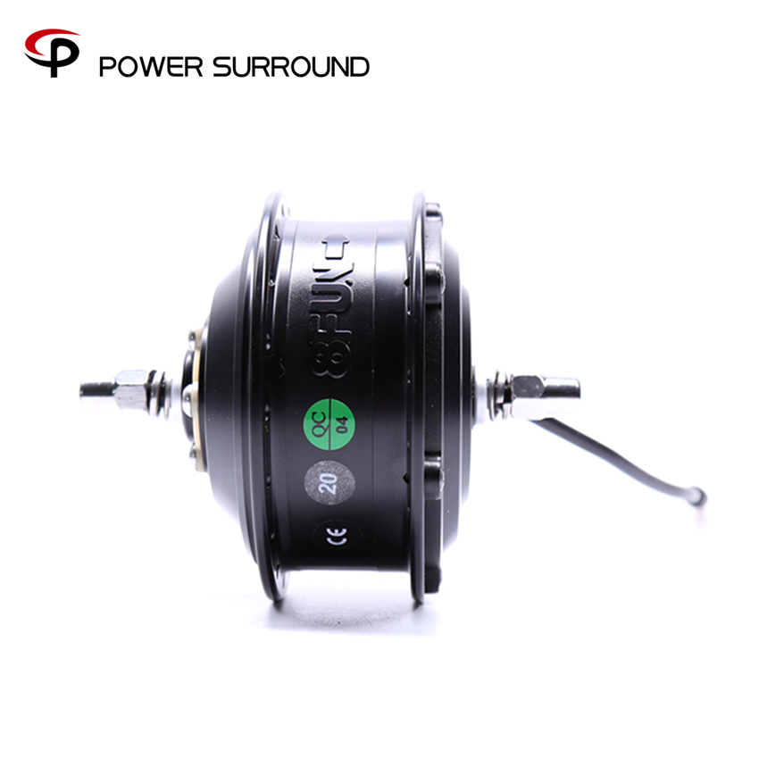 36V250W Front geared direct motor for ebike/brushless hub motor/8fun/bafang electric wheel motor wheel