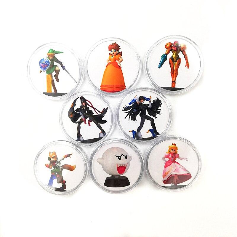 New Full Set 8Pcs Bayonetta 2 Of Amiibo Card Game Collection Coin NFC Tag NS Switch Zelda Mario Kirby Kart Splatoon Diablo