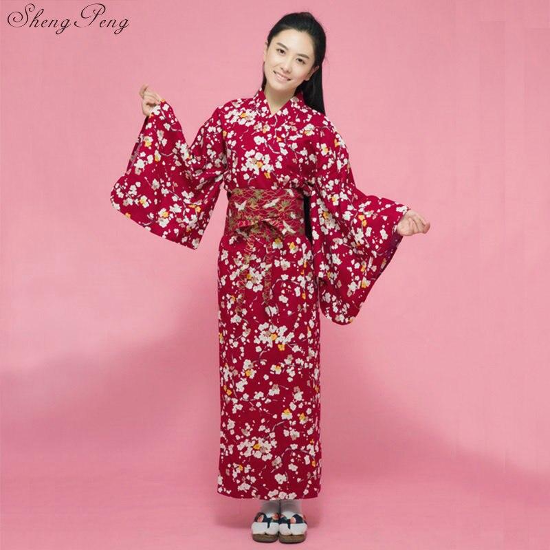 8874e64db Vestido de Kimono de seda tradicional de moda japonesa de señora ...