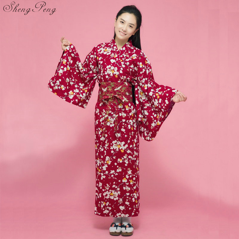 Fashion National Trends Women Sexy Kimono Yukata With Obi Novelty Evening Dress Japanese Cosplay Costume Floral V1465