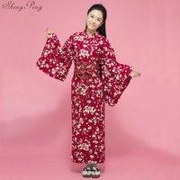 Fashion National Trends Women Sexy Kimono Yukata With Obi Novelty Evening Dress Japanese Cosplay Costume Floral V1465