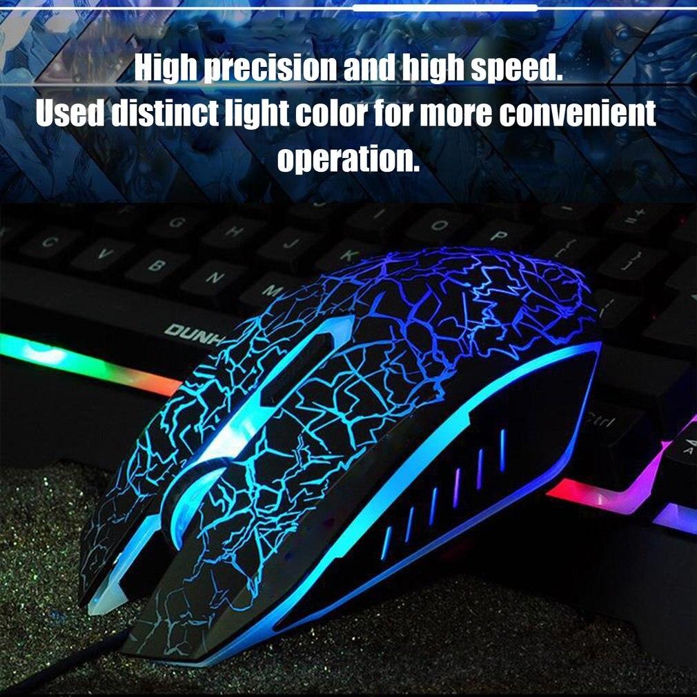 Профессиональная цветная подсветка 4000 dpi Оптическая Проводная игровая мышь Мыши 3 кнопки USB Проводная мышка с подсветкой Прямая поставка